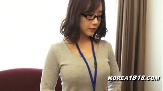 Hot Koereana with glasses gets groped by stranger
